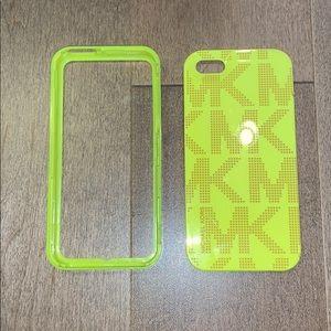 Michael Kors Neon Yellow MK iPhone 5 Case